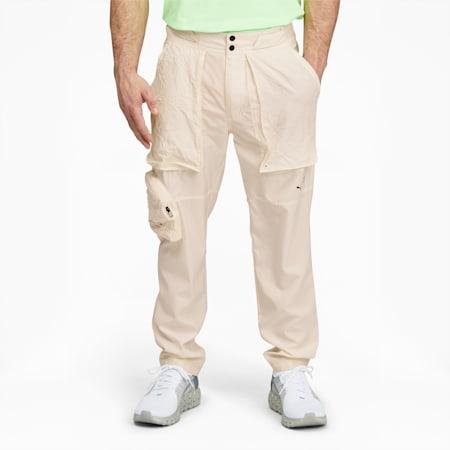 Pantalon d'entraînement fuselé PUMA x FIRST MILE, homme, Lait de poule, petit