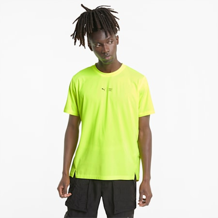 PUMA x FIRST MILE Men's Training Tee, Yellow Alert, small