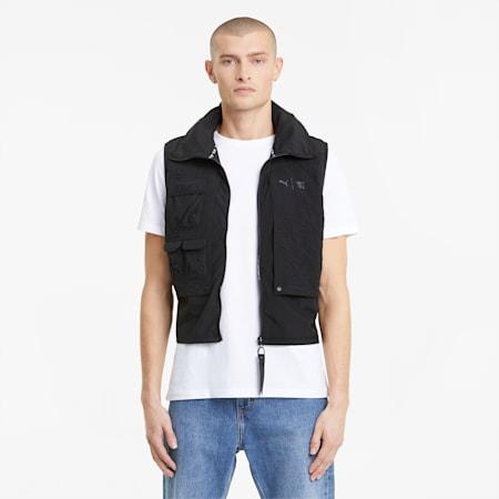PUMA x FIRST MILE Utility Men's Training Vest, Puma Black-AOP, small-IND