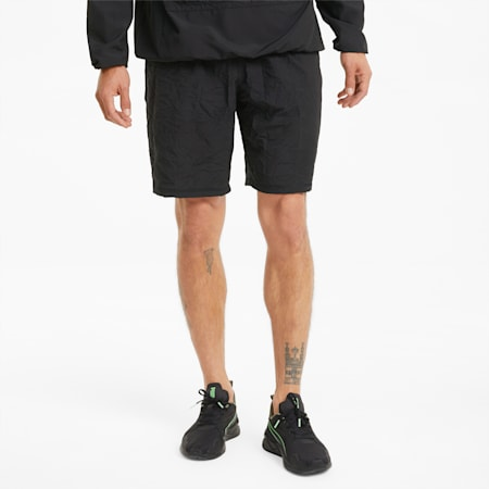 """PUMA x FIRST MILE Session 9"""" Men's Training Relaxed Shorts, Puma Black AOP, small-IND"""