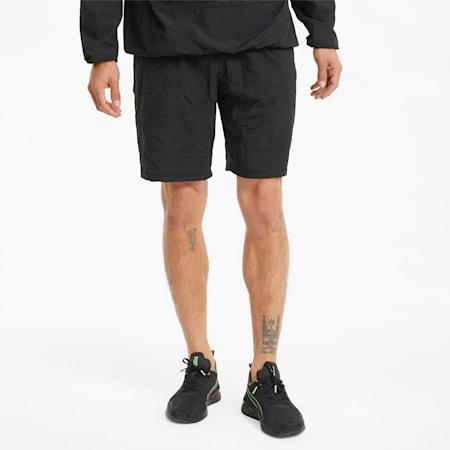 Shorts de entrenamiento PUMA x FIRST MILE para hombre, Puma Black AOP, pequeño