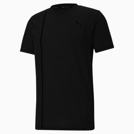 Tech Short Sleeve Men's Training Slim T-shirt, Puma Black, small-IND