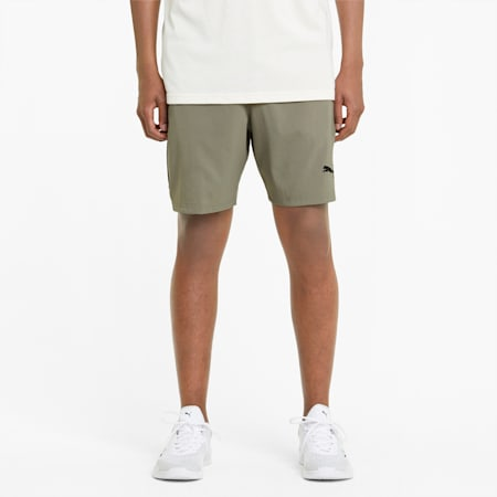 "Woven 7"" Men's Training Shorts, Vetiver, small"