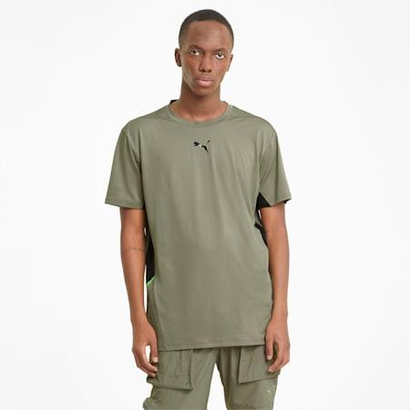 T-shirt d'entraînement Vent, homme, Vétiver - Noir Puma, petit