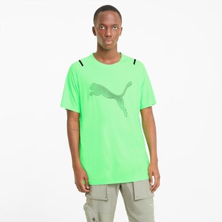 Graphic Raglan Men's Training  Relaxed T-Shirt, Elektro Green, small-IND