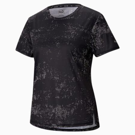 Graphic Short Sleeve Women's Running  T-shirt, Puma Black, small-IND