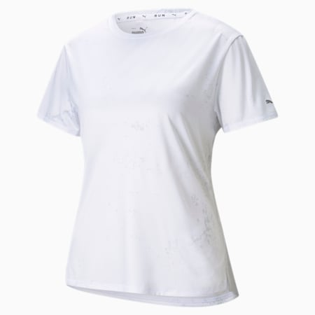 Graphic Short Sleeve Women's Running  T-shirt, Puma White, small-IND