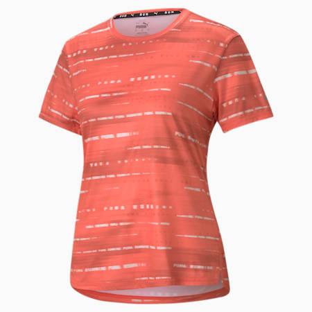Graphic Short Sleeve Women's Running  T-shirt, Georgia Peach, small-IND