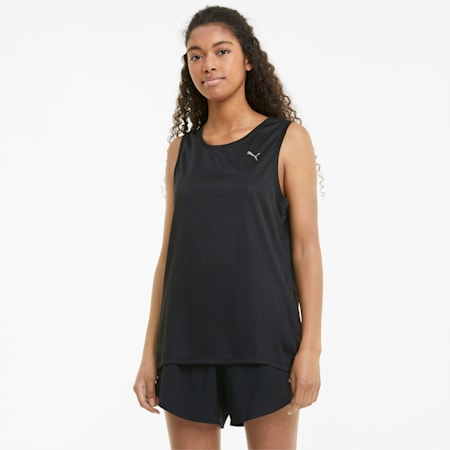 Favourite Women's Running Tank Top, Puma Black, small-GBR