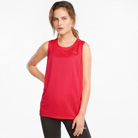 Favourite Women's Running Tank Top, Sunblaze-Persian Red, small
