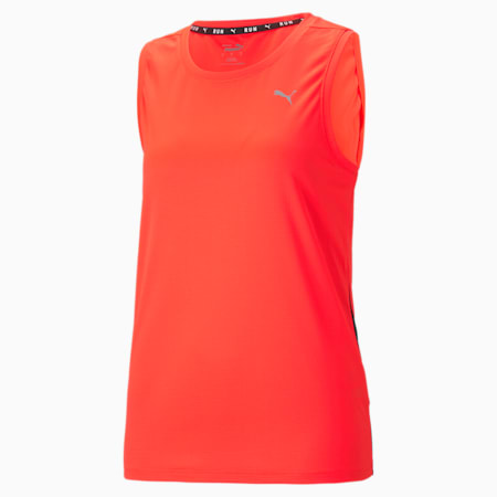 Favourite Women's Running Tank Top, Lava Blast-Puma Black, small