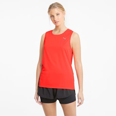 Favourite Damen Running Tank-Top, Lava Blast-Puma Black, small