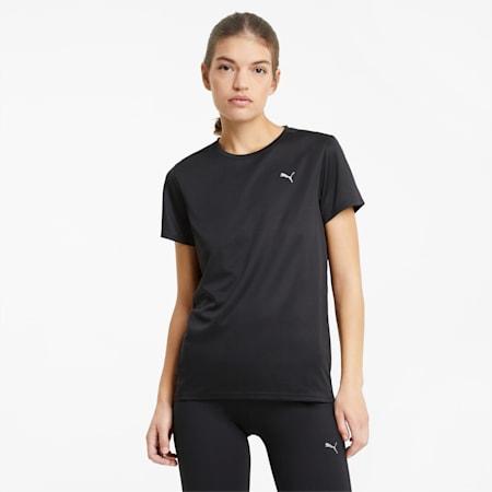 T-shirt de course à manches courtes Favourite femme, Puma Black, small