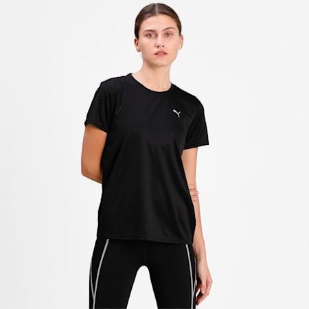 Favourite Short Sleeve Regular Fit Women's Running  T-shirt, Puma Black, small-IND