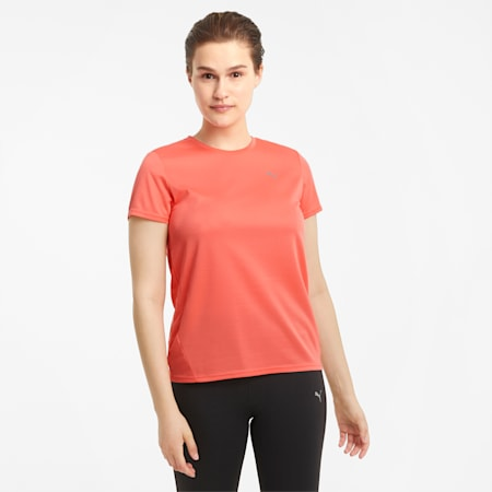 Favourite Short Sleeve Women's Running Tee, Georgia Peach, small