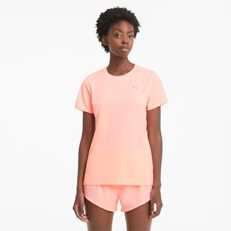 T-shirt de course à pied favori, femme, Pêche Elektro-Bleu Elektro, petit
