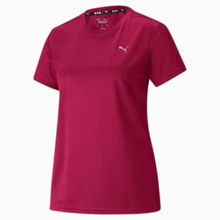 Favourite Short Sleeve Women's Running Tee, Persian Red-Sunblaze, small
