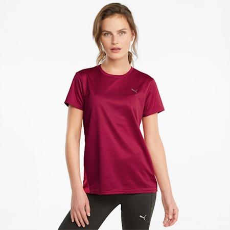 T-shirt de course à manches courtes Favourite femme, Persian Red-Sunblaze, small
