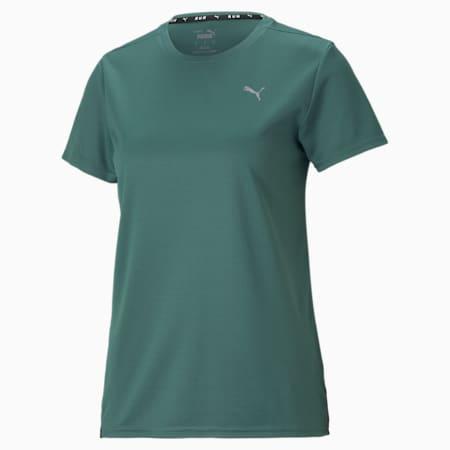 Camiseta para correr Favorite para mujer, Blue Spruce, pequeño