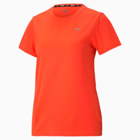 Favourite Short Sleeve Women's Running Tee, Lava Blast, small-GBR