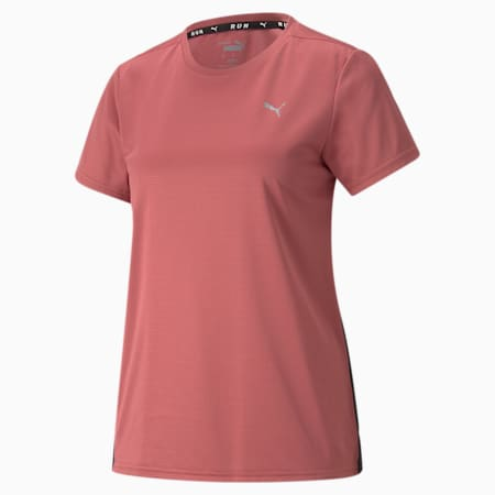 Favourite Short Sleeve Women's Running Tee, Mauvewood-Puma Black, small