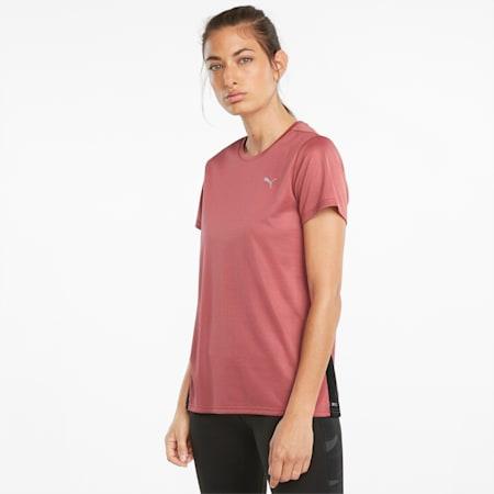 Favourite hardloopshirt met korte mouwen dames, Mauvewood-Puma Black, small