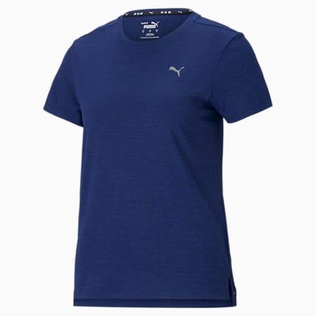 Favourite Heather Short Sleeve Women's Running Tee, Elektro Blue Heather, small