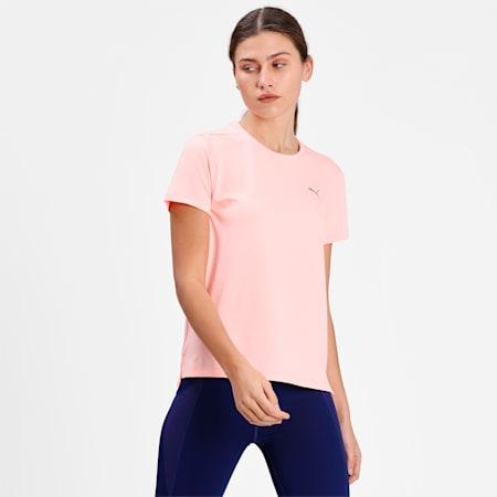 Favourite Heather Women's Running  T-shirt, Elektro Peach Heather, small-IND