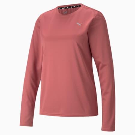 Camiseta para correr de manga larga Favorite para mujer, Mauvewood, pequeño