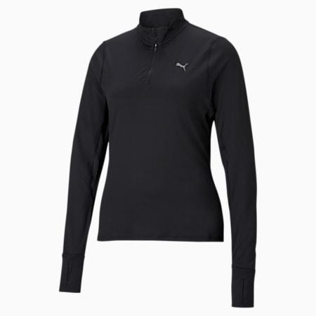 Favourite Quarter-Zip Women's Running Pullover, Puma Black, small