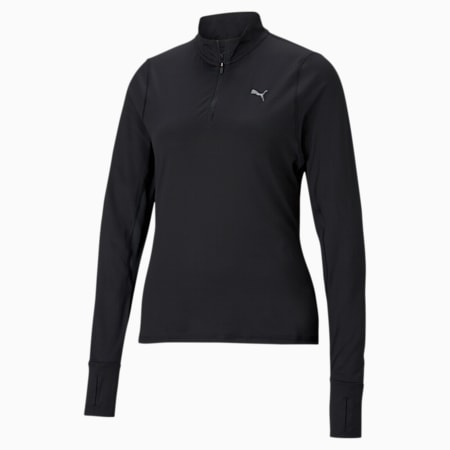 Favourite Quarter-Zip Women's Running Pullover, Puma Black, small-IND