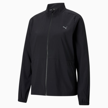 Favourite Woven Women's Running Jacket, Puma Black, small-IND