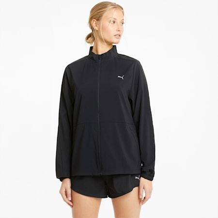 Favourite Woven Women's Running Jacket, Puma Black, small-GBR