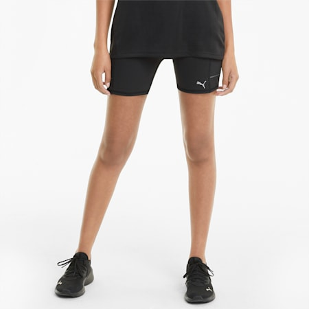 Favourite Women's Short Running Leggings, Puma Black, small-GBR
