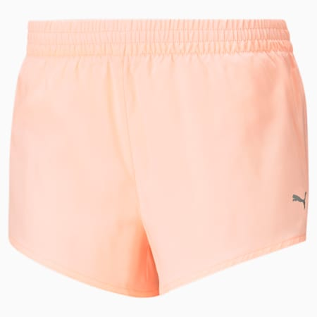 Favourite Gewebte Damen Laufshorts, Elektro Peach, small