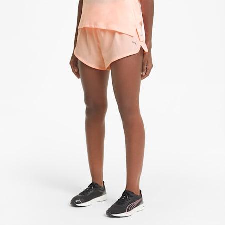 Shorts de running de tejido plano de 8 cm Favourite para mujer, Elektro Peach, small