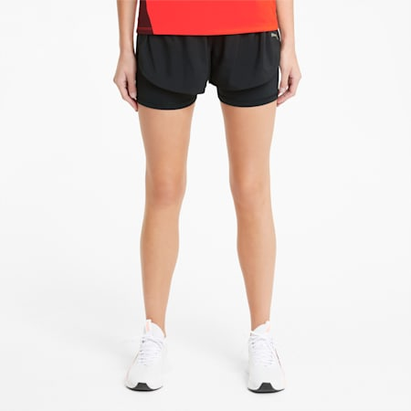"Favourite 2-in-1 3"" Women's Running Shorts, Puma Black, small"