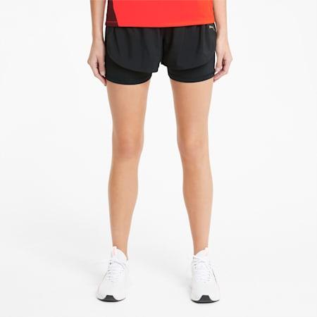 Favorite 2-in-1 Women's Woven Running Shorts, Puma Black, small-GBR