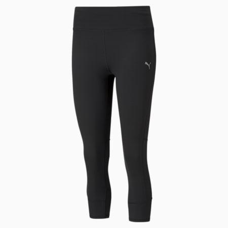 Favourite Women's 3/4 Running Slim Tights, Puma Black, small-IND