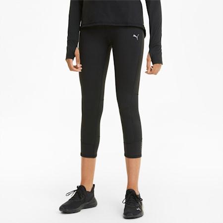 Favourite 3/4 Damen Laufleggings, Puma Black, small