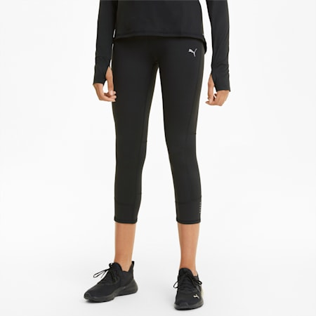 Favourite Women's 3/4 Running Leggings, Puma Black, small-GBR