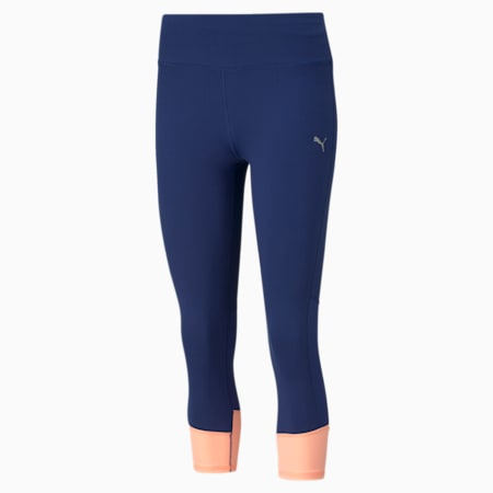 Favourite Women's 3/4 Running Leggings, Elektro Blue, small