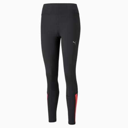 Favourite Women's Running Leggings, Puma Black-Sunblaze, small-GBR