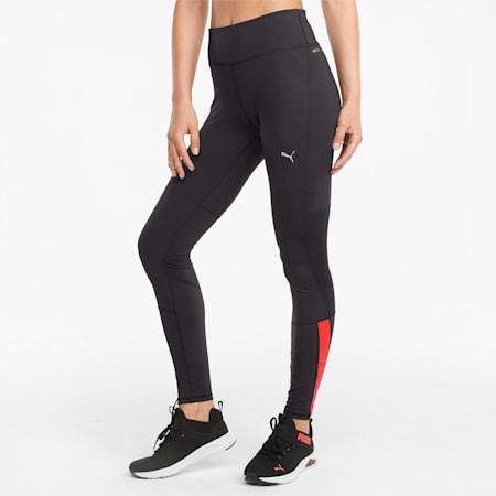 Favourite Women's Running Leggings, Puma Black-Sunblaze, small