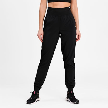 Favourite Tapered Women's Running Slim Pants, Puma Black, small-IND