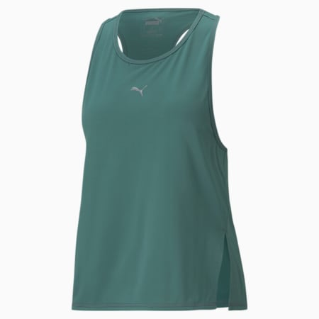 Camiseta sin mangas para correr COOLadaptpara mujer, Blue Spruce, pequeño
