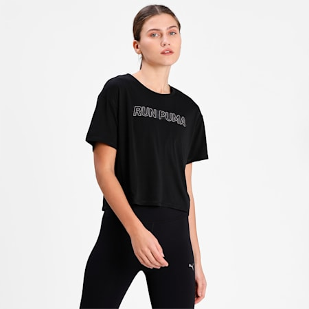 COOLadapt Women's Skimmer Running Relaxed  T-shirt, Puma Black, small-IND