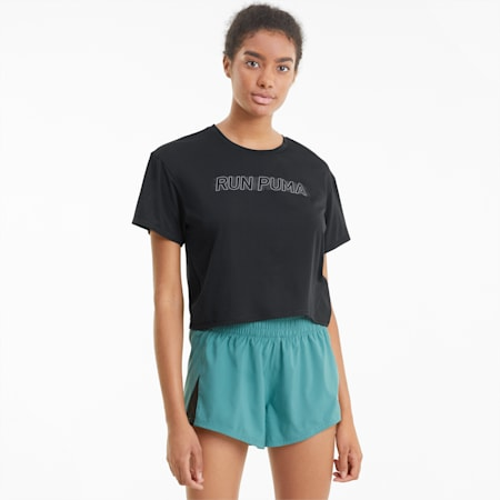 COOLadapt Women's Skimmer Running Tee, Puma Black, small-SEA