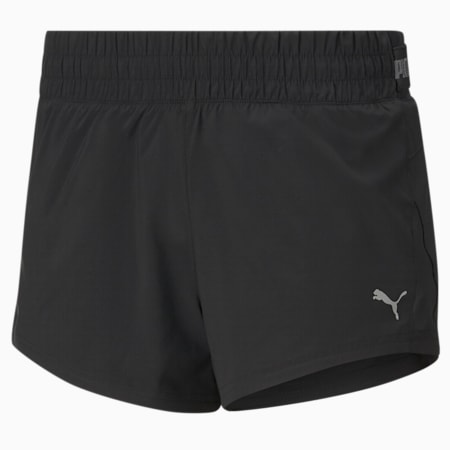 Shorts para correr de punto COOLadapt para mujer, Puma Black, pequeño