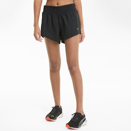 "COOLadapt Woven 3"" Women's Running Shorts, Puma Black, small-SEA"